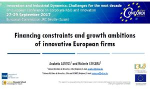 Financing constraints of innovative firms